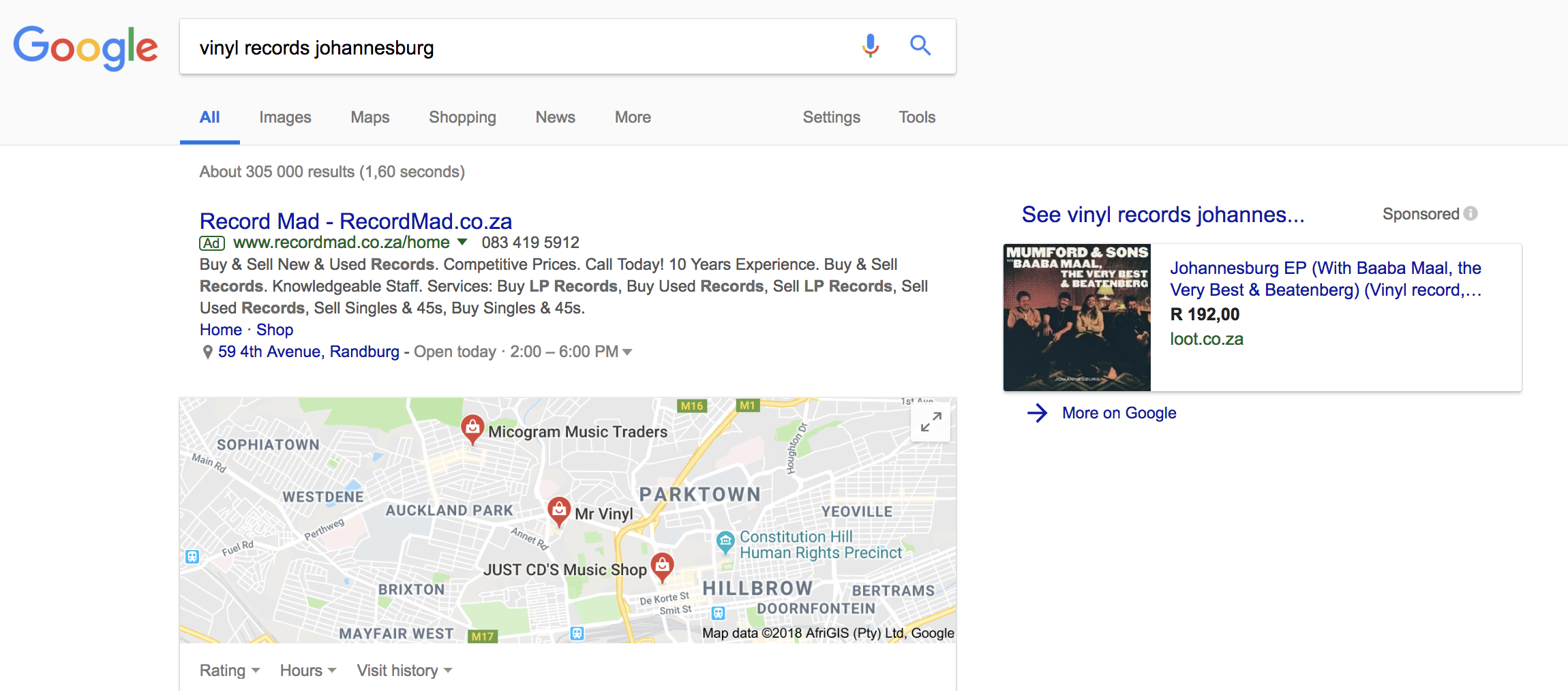 an image of google ad in search results