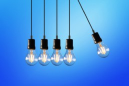 An image of lightbulbs