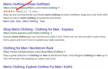 An image of men's clothing online store review.