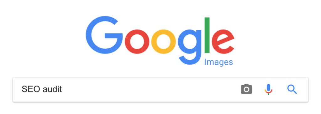 """An image of """"SEO audit"""" in the Google search bar looking for semantic phrases."""
