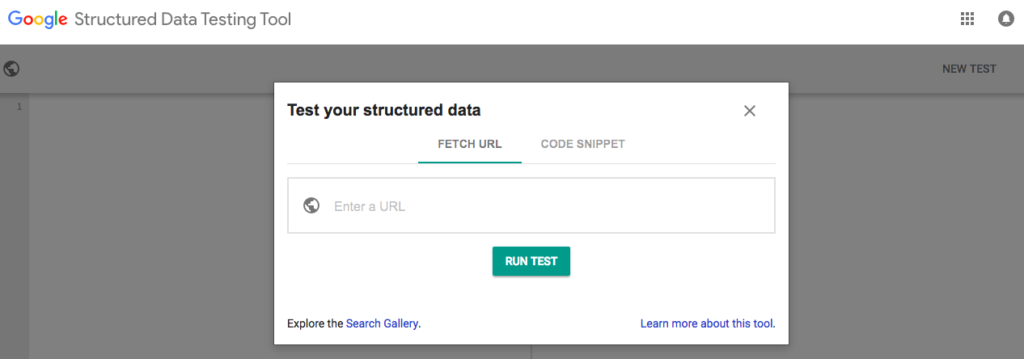 An image of Google's structured data tool